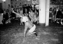 Performance at the Francesco Clemente's afterparty and dinner, New York. Photo Rachel…