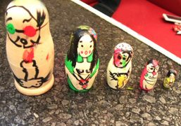 A collection of Russian dolls that Nobuyoshi Araki and his girlfriend Kaori…