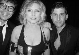 Gregory Bernard and André with Debbie Harry backstage at Le Baron in…