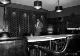 Andre Balazs in the new restaurant of the Standard Hotel, New York….