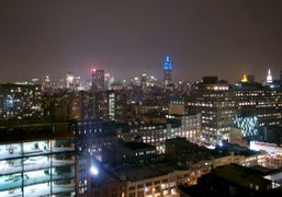 The view of the city from the top floor of the Standard…