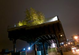 The end of the High Line which has been recently opened to…