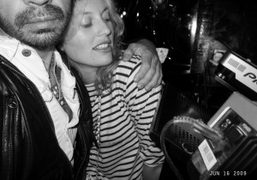 Me and a German girl at Le Montana, Paris. Photo Olivier Zahm