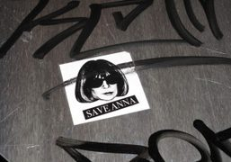 Save Anna stickers plastered all over the East Village, New York. Photo…
