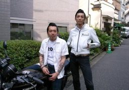 Tsune and Mitsu from the Japanese motorcycle store Tokyo Roll, Tokyo. Photo…
