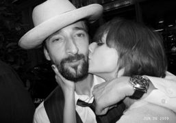 Adrien Brody and Louise at Le Montana, Paris. Photo Olivier Zahm