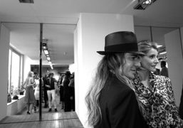 John Galliano and Clothilde Courau backstage after the Dior Couture Fall 2009/10…