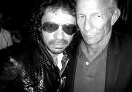 Olivier Zahm and Peter Beard at Le Montana, Paris. Photo Olympia Le-Tan
