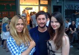 Mary Frey with Harmony and Rachel Korine at the opening of Mark…