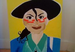 Mark Gonzales' new painting of Michael Jackson from his show South West…