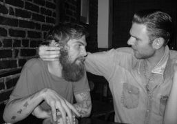 Dash Snow and Dan Colen, friends forever, at Omen, New York, 2007….