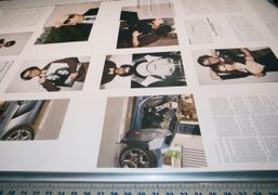 Printing the Purple Interview section of the next issue of Purple Fashion…