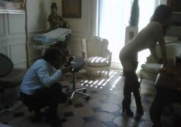Olivier Zahm shooting at the Cabinet Jacques Vettier for Purple Fashion magazine…