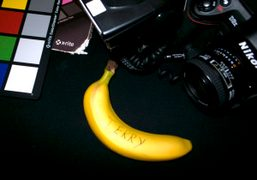 Terry Richardson's reserved banana on the Best of the Season shoot for…