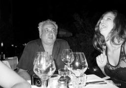 Hubert Boukobsa and his daughter, Lily McMenamy at the Hotel Ermitage, Saint-Tropez….