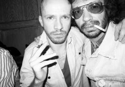 Purple photographer Magnus Unnar and me at Avenue, New York. Photo Olivier…