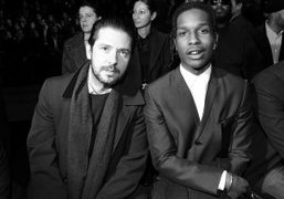 Front row at Dior Homme F/W 2014 show at the Tennis Club...