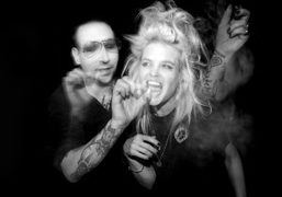 Marilyn Manson and Alison Mosshart at the Roosevelt Hotel for a special…