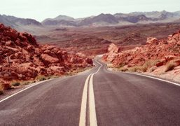 A photo by artist Alexis Dahan as he drives through the Valley…