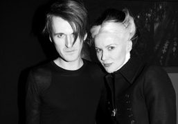 Gareth Pugh and Daphne Guinness after the Gareth Pugh F/W 2012 show, Paris….