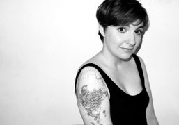 A cute picture of Lena Dunham at Terry Richardson Studio. Photo Terry…