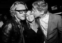 Peter Dundas, Carine Roitfeld and Jefferson Hack at the Givenchy Mens S/S…