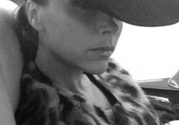 On the way back from Dallas with Victoria Beckham. PhotoCameron Smith