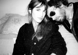 Jeanne Damas and me during the shoot for Yasmine Eslami Lingerie line,…