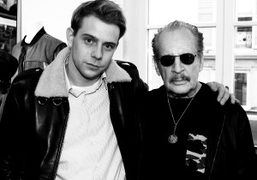 Designer Jonathan Anderson and Larry Clark at the J.W. Anderson x Larry…