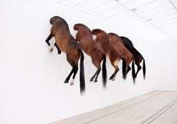 KAPUTT by Maurizio Cattelanis on view through October 6th at Fondation Beyeler,…