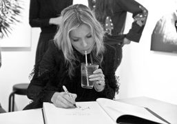 The Kate Moss Book signing at Colette, Paris