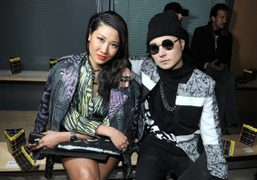 Yoon and Verbal, designers of the jewelry label Ambush, at the Kenzo…