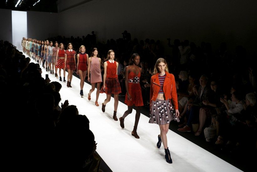 The finale at the Vanessa Bruno S/S 2014 show, Paris.