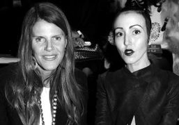 Anna Dello Russo and Michelle Harper before the Mugler F/W 2012 show, Paris….