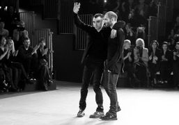 Nicola Formichetti and Sébastien Peigné after the Mugler F/W 2012 Show, Paris. Photo Stéphane…