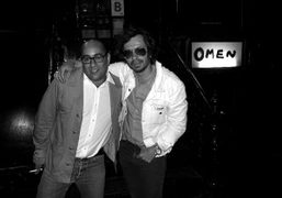 Ezra Petronio from Selfservice and Olivier Zahm, outside of Omen, New York….