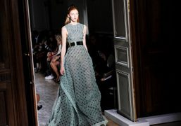 One look from the John GallianoS/S 2014 show at Hotel Salomon de...