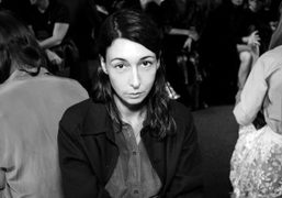 Camille Bidault Waddington at the Vêtements S/S 2015 show at Espace Pierre…