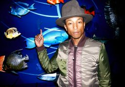 Pharrell Williams at the G Star Raw for the Oceans presentation at The American…