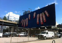 The new Toilet Paper Magazine billboard over The High Line, New York….