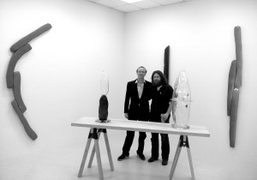 Tristano di Robilant and Justin Adian during the opening of their new Forms…