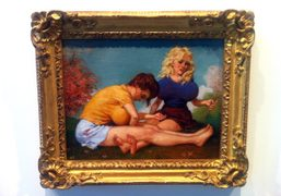 A classicJohn Currin painting inRauschenberg Foundation'sWe The Peopleshow, on view through November…