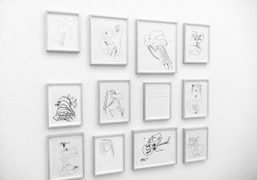 Joe Bradley's drawings on view through August 9th as part of the…