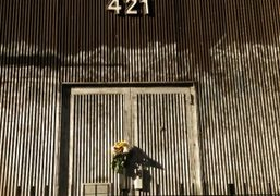 Flowers outside the East Village studio of artist Walter de Maria who…