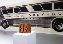 Mason Williams'fold out Bus Book from 1967 at David Zwirner, New York….