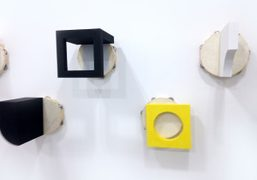 Paul Lee in Maccarone booth at Independent Art Fair 2014, New York….