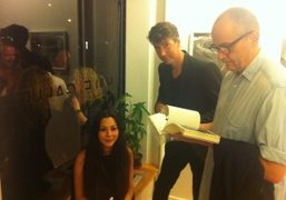 CHINA CHOW, RICHARD PHILLIPS AND PHILIP LORCA DICORCIA checking out CRAIG MCDEAN'S…