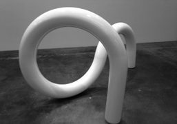 A sculpture by Carol Bove at her exhibition RA, or Why is…