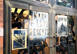 Mark Flood's work in the window disply at Resents Gallery, New York….