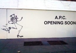 Mr. A taking over a new APC store. Andre Saraiva's graffiti on 92 Perry…